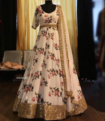 Exclusive Party Wear Printed Gown