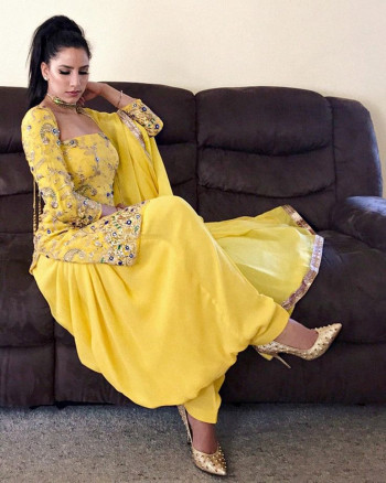 Exclusive Yellow Dress Material