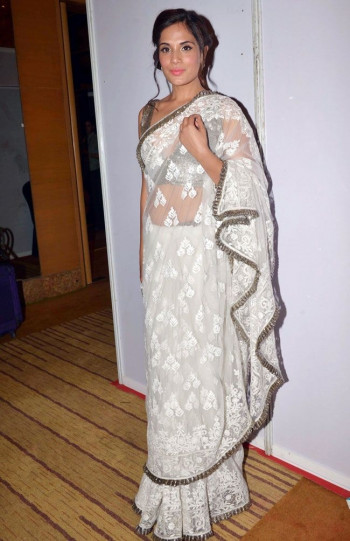 Exclusive White Saree