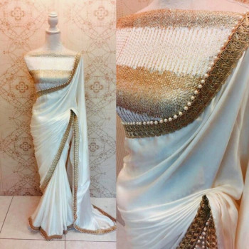 Exclusive White Party Wear Saree