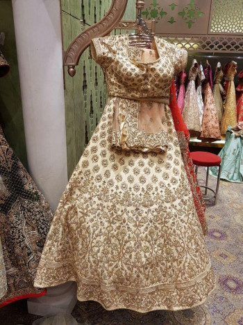 Exclusive Golden Party Lehenga Choli